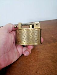 Vintage Swiss Made Brass Table Lighter - Lift Spring Arm - Functional