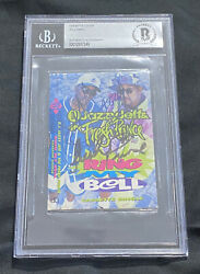 Fresh And Dj Jazzy Jeff Autographed Cassette Cover Will Smith Rare Beckett