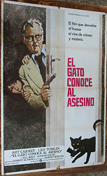 Used Sign Of Cinema The Cat Meet The Killer Vintage Movie Film Poster Used