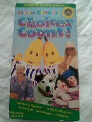 Kids for Character: Choices Count VHS 1997 $11.49