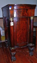 Antique Side Liquor Cabinet  French Empire Style 1800's