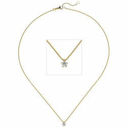 Necklace With Pendant 585 Gold Yellow Gold 1 Diamond 015 Ct