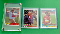 1981 Topps Football Complete Set - Nm+ W/ Joe Montana Rc And Monk Rc Investment