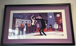 Shag Josh Agle – You Never Can Tell Serigraph Pulp Fiction Framed Print