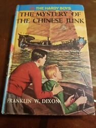 Hardy Boys 39 Mystery Of The Chinese Junk Dixon 1960 Vintage Hardcover Book Use