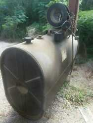 Oil Tank And Air Pump 250 Gallon W/ 75ft Hose Industrial Commercial Ready To Use