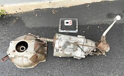 Gm Muncie 4-speed Transmission And Bell Hous 68-69 Oem W/ Hurst Shifter Nice