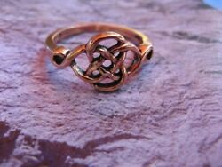 Solid Copper Celtic Knot Ring Cr091 -3/8 Wide. Available In Sizes 5 Thru 9.
