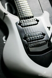 Music Man John Petrucci Majesty 7st Glacial Frost Electric Guitar With Hard Case