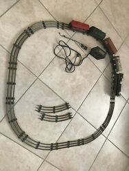 Vintage Antique Old Electric Tin Toy Train Cars, Complete Tracks And Motor
