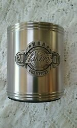 Lakers Nba Drink Coosie Champions 2001 Stainless Steel Foam Insulated Pre-owned