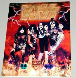 Kiss Band Farewell 2000 Lenticular 3-d Plastic Card Poster Large 16x20 Gene Ace