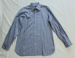 Tom Ford Mens41/16purple White Long Sleeve Button Down Dress Shirt French Cuff