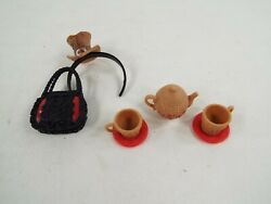 Ever After High Doll Cerise Hood Hat Tastic Party Accessory Lot Tea Set Purse
