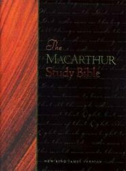 The Macarthur Study Bible Black Bonded Leather