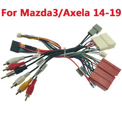 1 X Car 16pin Audio Wiring Harness With Canbus Box For Mazda3/axela 2014-2019