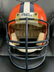 Doug Womack Vintage Syracuse Game Worn Football Helmet From 1992 Awesome+rare