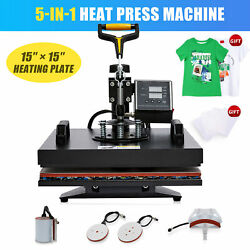 15x15 Heat Press Machine W Transfer Sheets 360 Swivel For T Shirts More 5 In 1