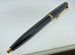 1980's No. 784 Brushed Black And Gold Lever Mechanism Ballpoint Pen