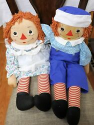 Raggedy Ann And Andy 32 Soft Doll Georgene Novelty Co. 1938-1950