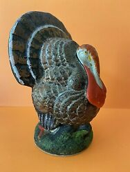 """Vintage 5.25"""" Turkey Candy Container Us Zone W Germany Composition Thanksgiving"""