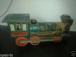Vintage Collectible Foreign Patent Western Locomotive Train Modern Tin Toy Japan