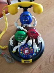 Vintage Original 1980s Mandms Animated Talking Character Collectorand039s Telephone