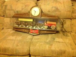 Rare Vintage Budweiser Beer Clydesdale Wagon Advertising Lamp Mint Condition