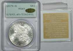 1879-s Moragn Dollar - Pcgs Ms-65 Gold Cac And Ms-67 Quality Rattler