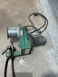 Greenlee Portable Power Cable Puller 2001 With Chains
