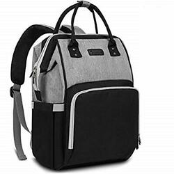 Diaper Bag Backpack Nappy Bag Baby Bags for Mom and Dad Maternity Black Grey $45.00