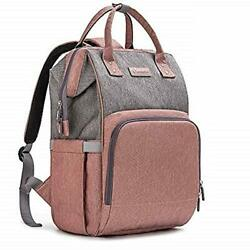 Diaper Bag Backpack Nappy Bag Baby Bags for Mom and Dad Maternity Pink Grey $45.55