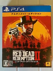 Red Dead Redemption 2 Ultimate Edition Japan Import With Steelbook And Map Ps4
