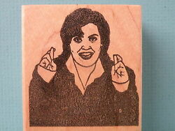 Comedian /actress Rosie O'donnell Red Ruby Rubber Rubber Stamp