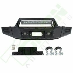 For 09-14 Ford F 150 Front Bumper Guard Face Bar + Led Lights Assembly