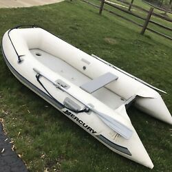 Mercury 310 Inflatable Dinghy Boat Air Deck 10 Ft With 6hp Motor Complete