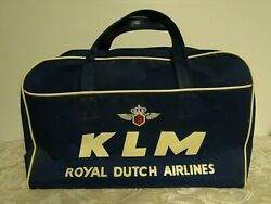 Vintage Klm Carry-on Airlines Flight Airport Bag - Circa 1959