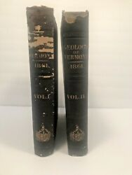 Antique Report On The Geology Of Vermont Geological 1861 Two Volumes Books Hager