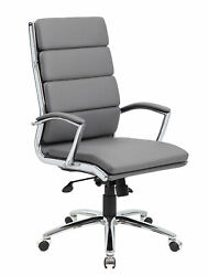 Boss Caressoftplus Executive Chair In Grey Finish B9471-gy