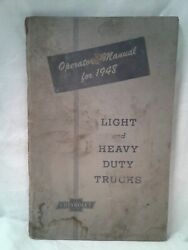 1948 Operators Manual Chevrolet Light And Heavy Duty Trucks Authentic Signs Wear