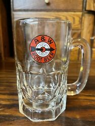 Vintage A And W Root Beer Glass Mug Stein Older Logo Arrow And Target