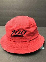 """Access """"100"""" Red Bucket Hat Preowned One Size $24.99"""