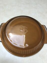 Anchor Hocking Fire-king 460 Ovenproof Amber Glass 9 Inch Pie Plate Vintage