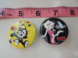 Felix The Cat And Kitty Kat From Felix Vintage Pin Rare Kitty Kat Set Of 4 S7