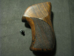 Ruger Lcr/lcrx Series French Walnut Checkered+back+logo Pistol Grips New Design