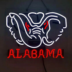 """""""alabama'' Decor Room Workshop Real Glass Neon Sign Night Awesome Sign"""