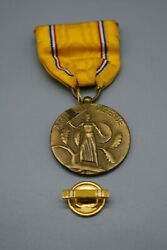 Medal - American Defense With Small Ribbon - Preowned