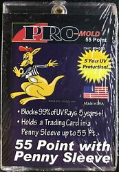 25 New Pro-mold Mh55s Regular Card 55pt W/sleeve Magnetic Holders Uv Usa Made