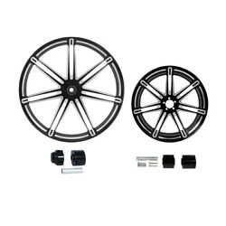 21/23/26/30x3.5and039and039 Frontand18and039and039 Rear Wheel Rim Hub Fit For Harley Road King 08-21