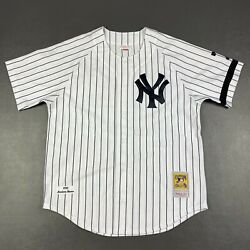 100 Authentic Mariano Rivera Mitchell And Ness 1995 Yankees Jersey Size 48 Xl